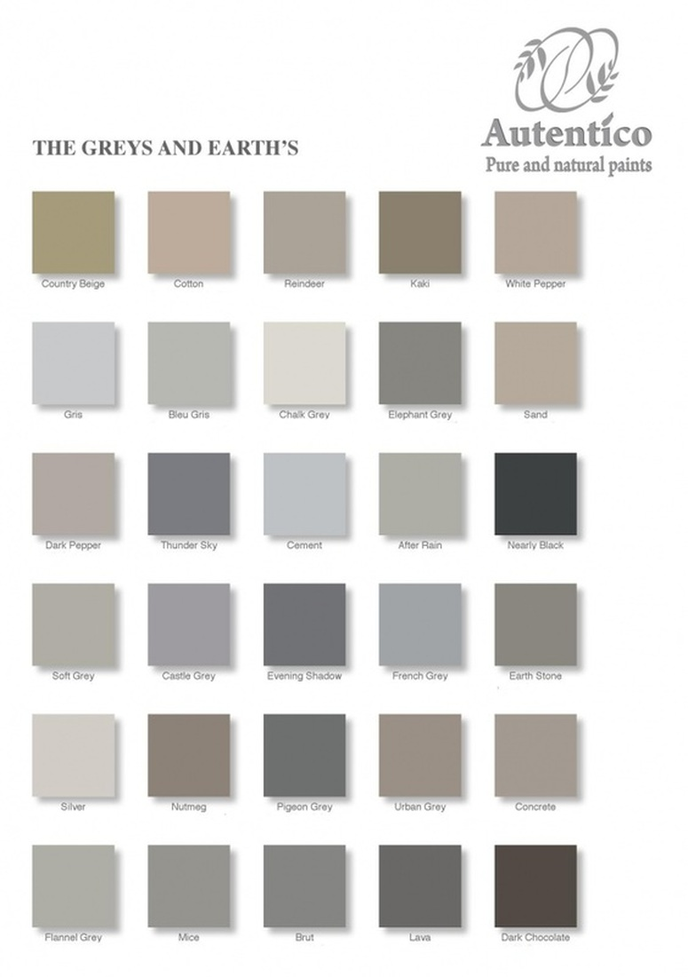 Autentico paints colour chart diy shabby chic com for Peinture behr exterieur